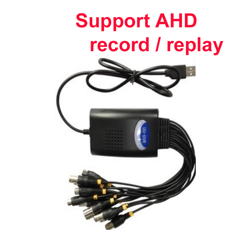 купить AHD camera 720p DVR card 4 ch Windows DVR box W7 W8 XP W10 supported AHD USB DVR box android OS IOS cctv DVR usb 2.0