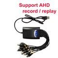 Caixa câmera AHD DVR 4 ch DVR Janelas W7 W8 XP com suporte AHD DVR USB box OS android IOS cctv DVR