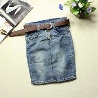 New Summer Women Jean Skirts Women's Casual Short Denim Skirts Slim Sexy Miniskirt Pencil Skirt Plus Size XXXL 4XL Y0619 59D