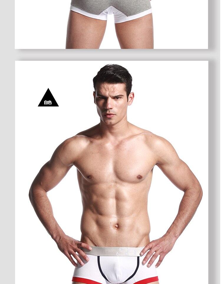 SEOBEAN Для мужчин, хлопковые трусы-боксеры, нижнее белье, с низкой посадкой, боксеры, шорты, 6 цветов