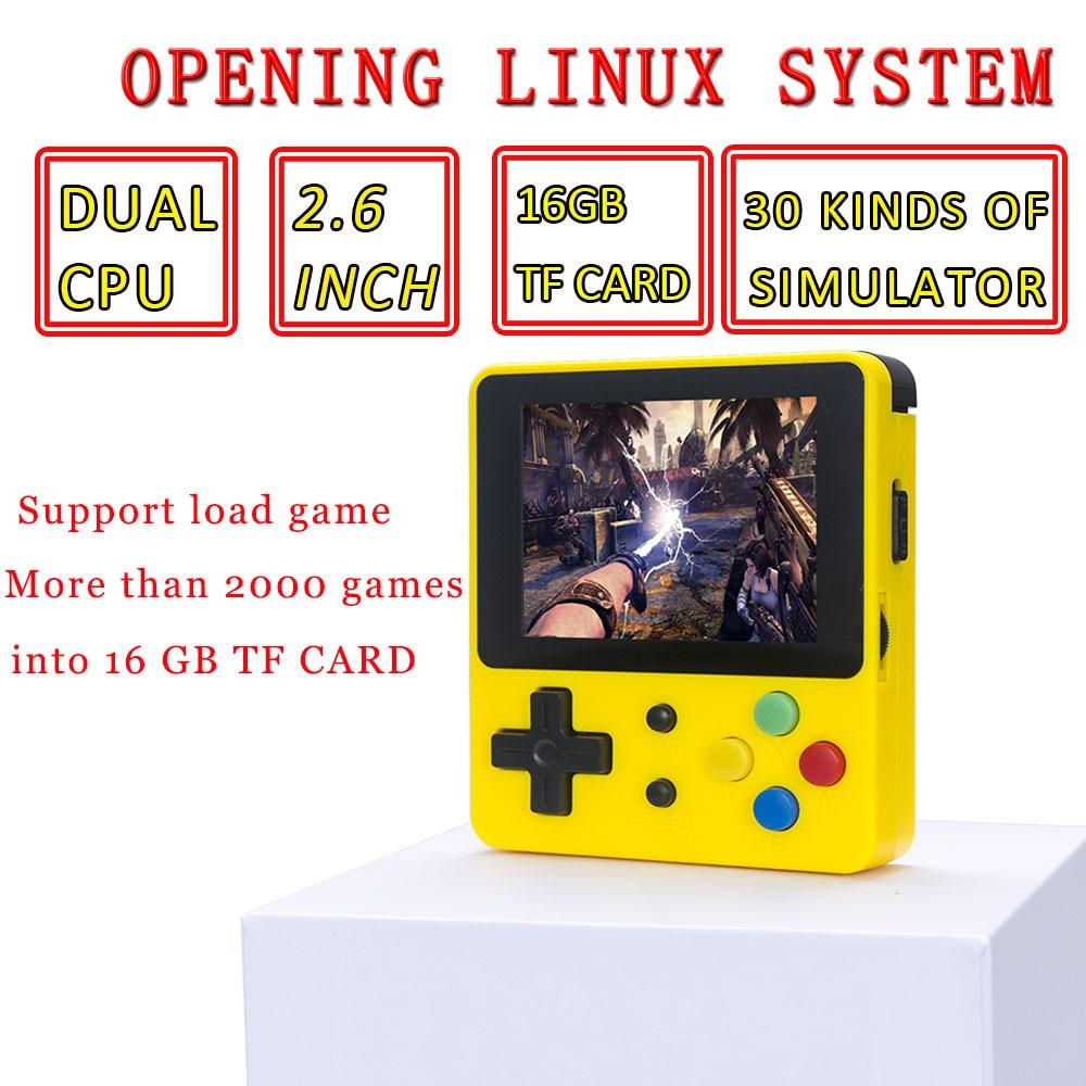 WOLSEN LDK jeu 2.6 pouces Mini Portable Console de jeu Portable famille joueur de jeu vidéo plus de 4000 jeux préchargés