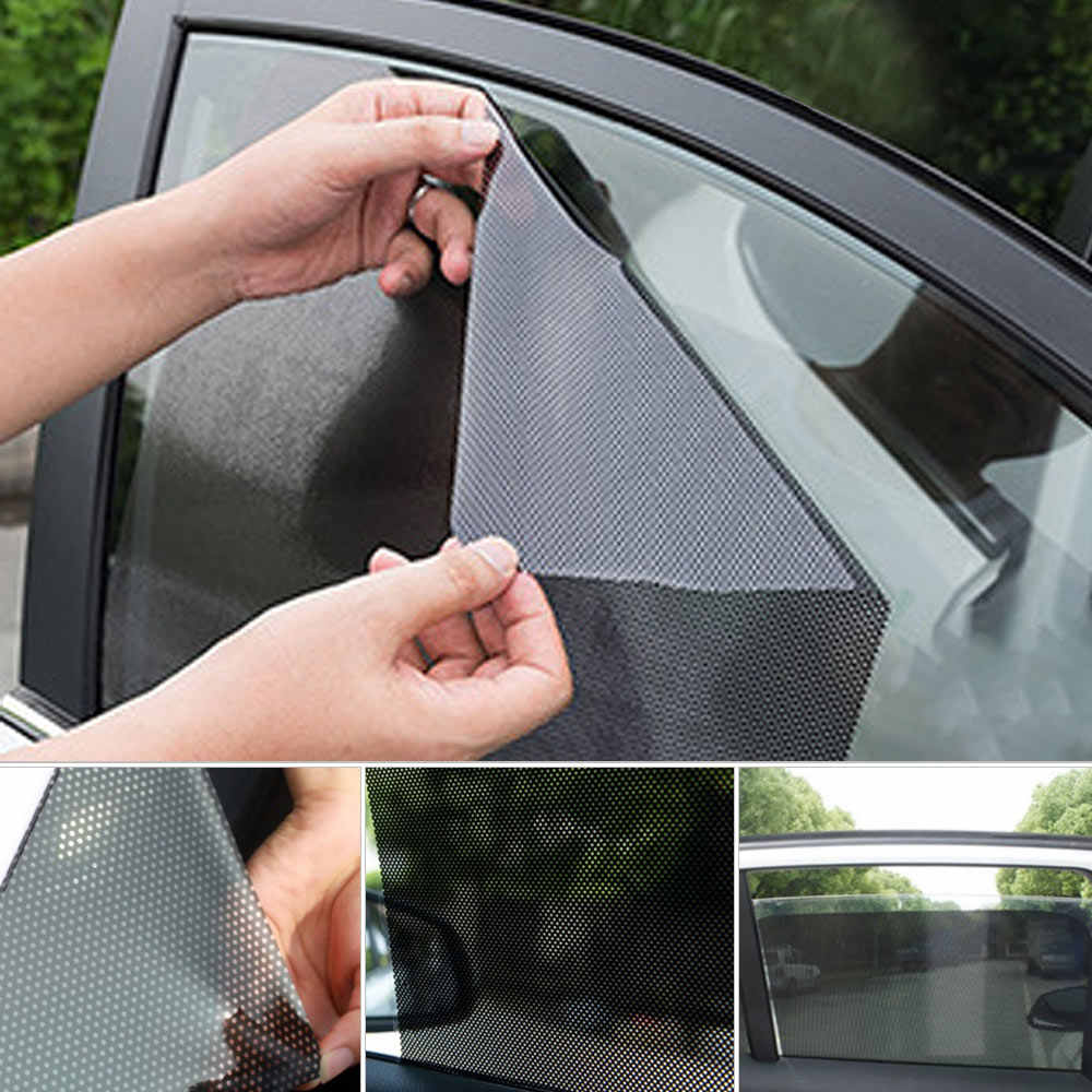 Detail Feedback Questions about Car Cover Sunshade Eco friendly PVC Auto Windshield  Sun Shade Black Universal Car Accessories Electrostatic Stickers 2pcs on ... 8b45409f88f