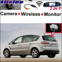 Lisslee 3 in1 Special Camera + Wireless Receiver + Mirror Monitor Easy DIY Parking System For Ford S Max S Max Smax 2006~2017