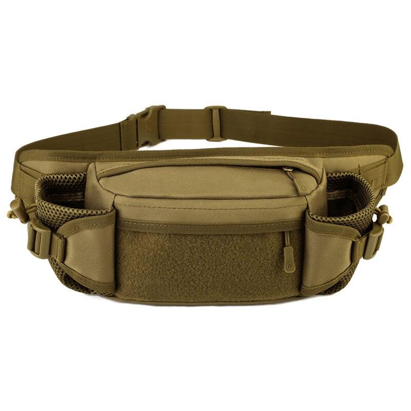 Multifonction haute capacité tactique militaire hommes Sport taille sac étanche sac de course Fanny Pack pour téléphone portable porte-monnaie