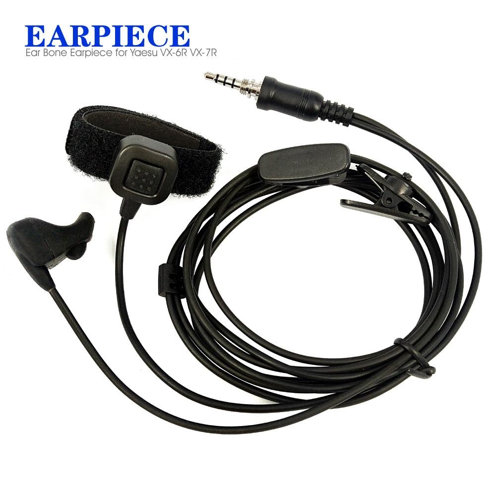 Earpiece Headset PTT MIC for YAESU Vertex VX-6R VX-7R VX-177 VX-170