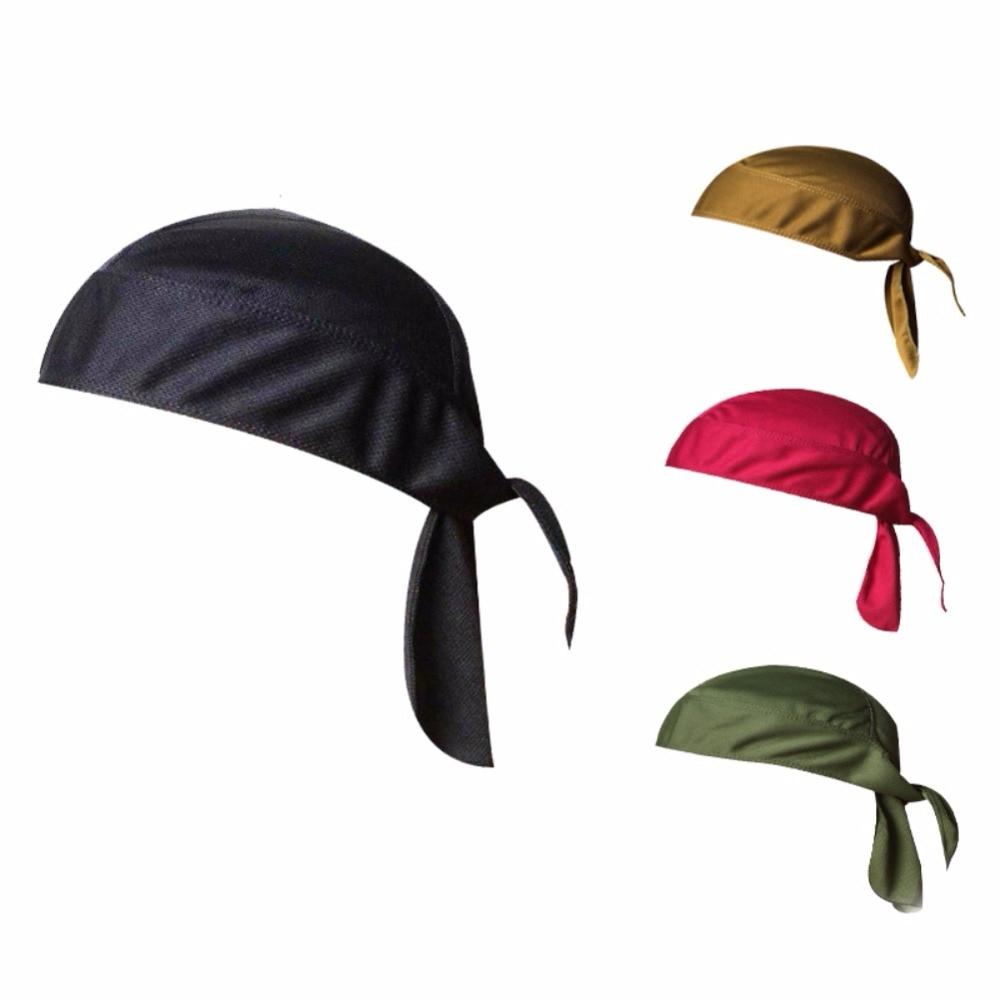 все цены на 2018 New Quick Dry Pure Cycling Cap Head Scarf Summer Men Running Riding Bandana Headscarf Ciclismo Pirate Hat Hood Headband