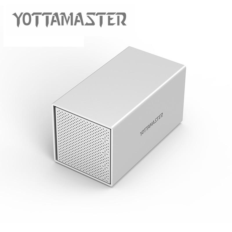 Yottamaster HDD Case Aluminum 4-bay 3.5 inch USB3.0 HDD Docking Station Support UASP 7 Raid Modes 40TB orico cd rom space internal 3 5 inch sata3 0 hdd frame mobile rack internal hdd case [support uasp protocol