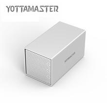 Yottamaster HDD Case Aluminum 4-bay 3.5 inch USB3.0 HDD Docking Station Support UASP 7 Raid Modes 40TB