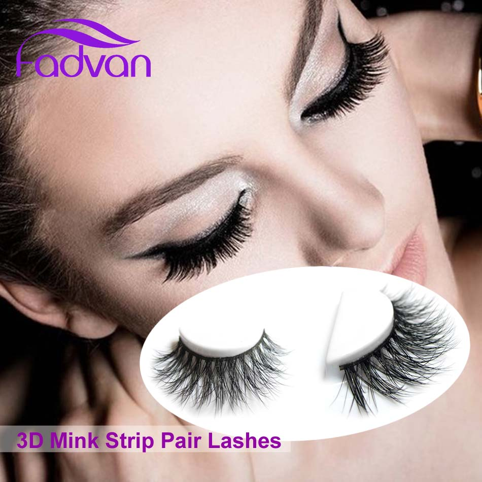100% Real 3D Mink Fur Lashes Makeup Eyelashes Cilios All Hand Made Thick Natural Long Fadvan Hot Sale Strip Eye Lashes