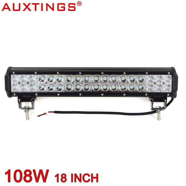 Auxtings high power 18inch 108w 4x4 off road light bar led work auxtings high power 18inch 108w 4x4 off road light bar led work light driving light for aloadofball Image collections