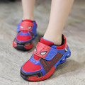 2-11Years PU/Mesh Casual Shoes Kids Girls Boys Sports Shoes Children Spiderman Sneakers Toddler Shoes Chaussure Garcon Hook Loop