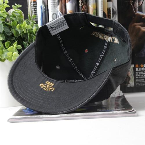 85f96373 US $9.8 |NewBrand Cayler Sons black Leather Snapback hat Flower sport hip  pop bone baseball snapback cap for men women gorras sun era hat-in Baseball  ...