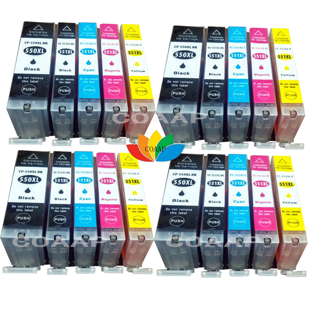 20 XL чернильные картриджи PGI 550 CLI 551 для Pixma iP7250 MG5450 MG5550 MG5650 MG5655 MG6350 MG6450 MX925