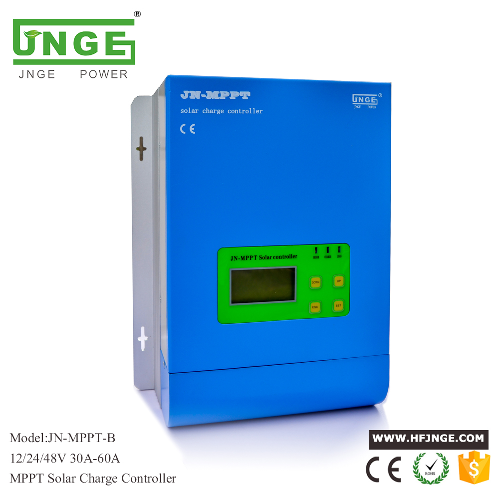 JN-MPPT 60A Solar Controller MPPT Solar Charge Controller 12V 24V 48V MPPT Solar Panel Battery Regulator with Max. 150V PV input 60a mppt solar charge controller with lcd 48v 24v 12v automatic recognition rs232 interface to communicate with computer smart1