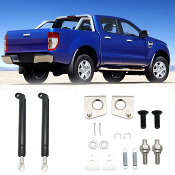 1 Pair 210mm Spring Steel Tailgate Slow Down & Easy Up Strut Set For FORD RANGER T6 Year 2012 2013 2014 2015 2016 Car Accessory