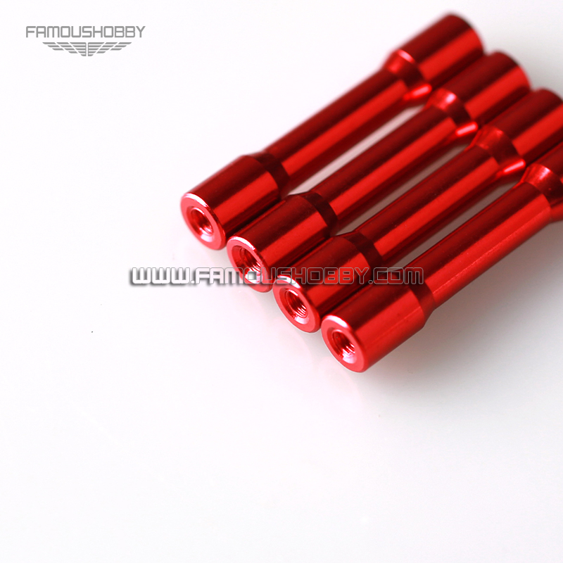 Famoushobby FSP049 M3x35 Aluminum Spacer/ Anodized Red Spacer/ RC ...