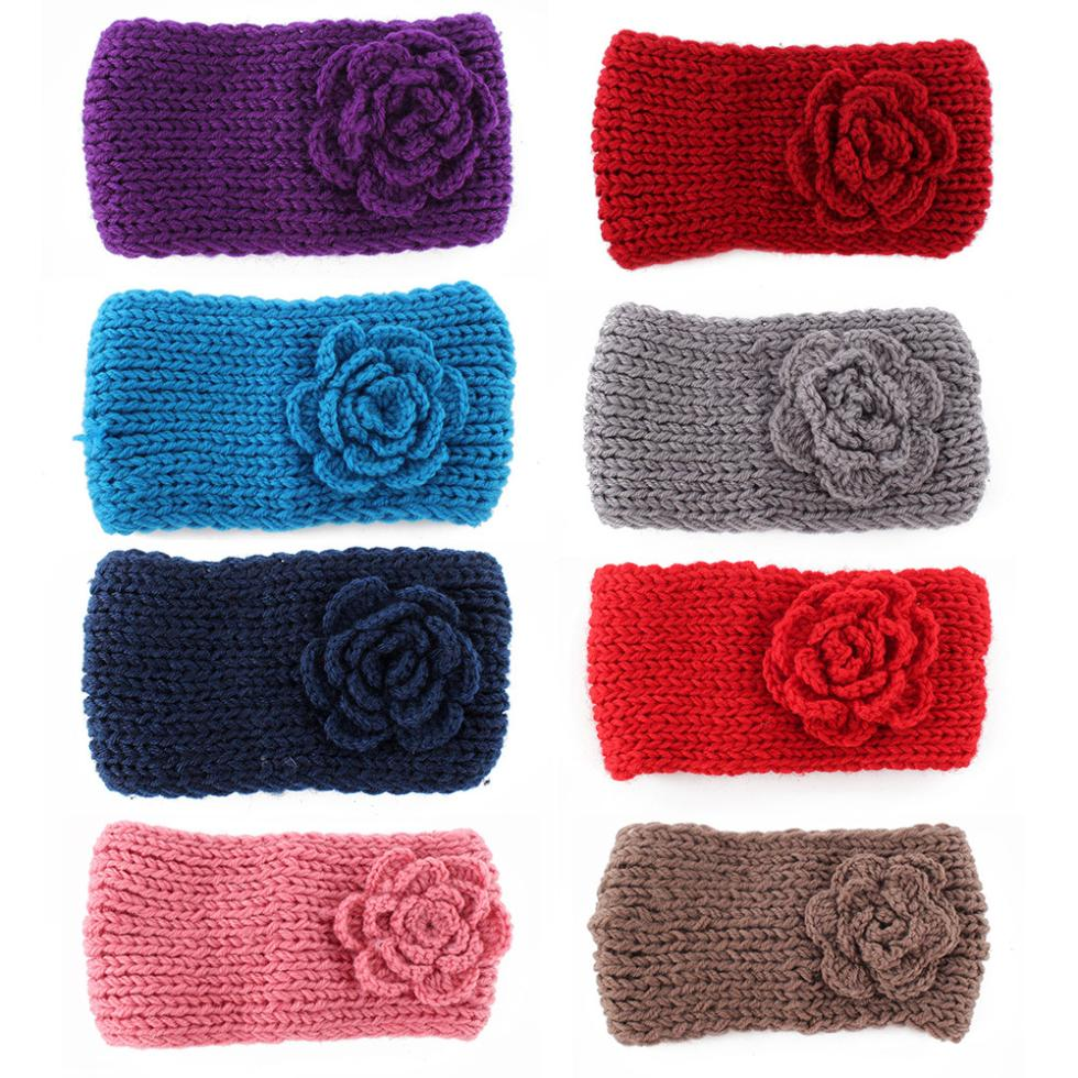 Knitting Patterns For Ear Warmers With Flower : Aliexpress.com : Buy New Knitted Headband Women Crochet ...