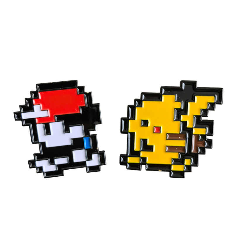 Pokemon Sprite Pixel 8 bit broche con insignia esmaltada Pikachu