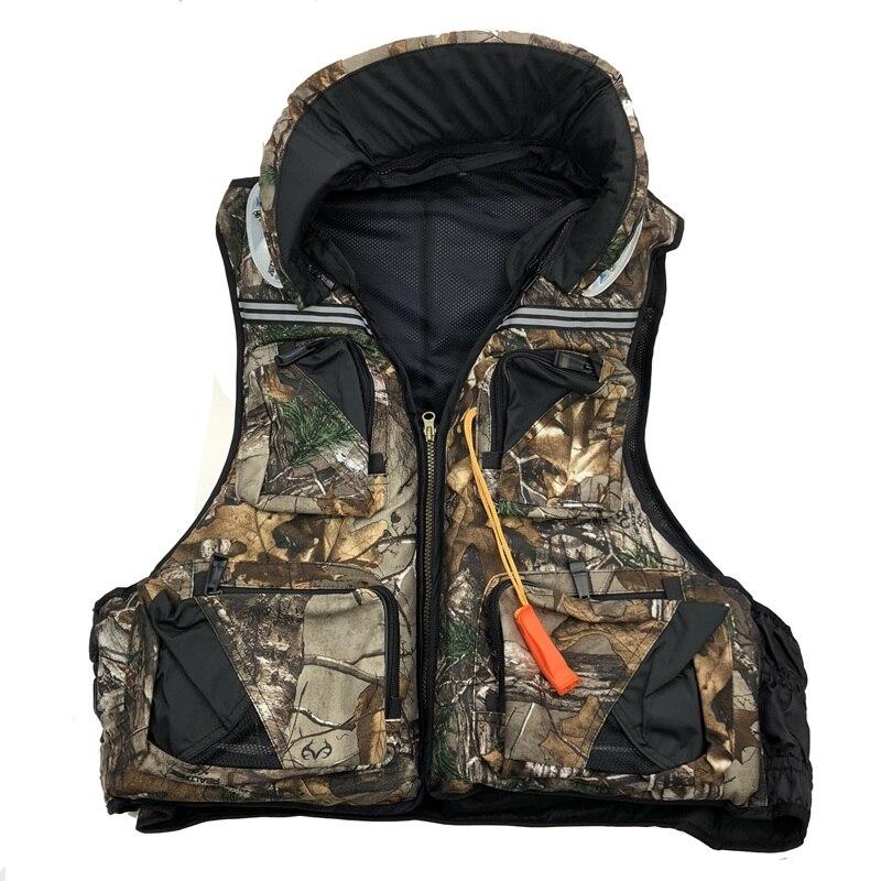 hunting life vest Leaf camouflage color L XL XXL life jacket fishing lifevest
