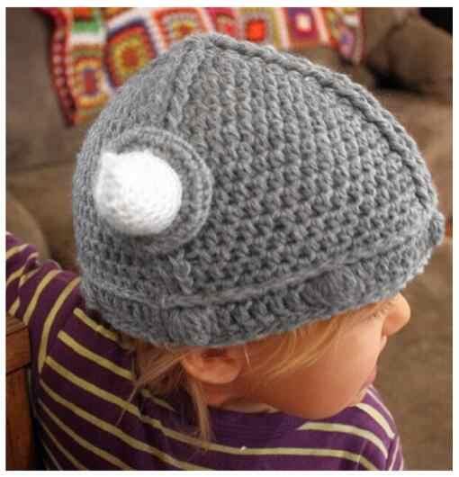 ไวกิ้งนักรบเด็ก Handmade หมวกถักโครเชต์หมวกหมวกกันน็อกทารกแรกเกิดการถ่ายภาพ Prop เด็ก knight บูลส์ Xmas ของขวัญ 0-12 เดือน