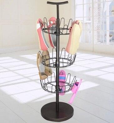 Внешняя торговля подлинной creative кофе белый краска три вращающийся круг сварочное железо подвесной стеллаж для обуви
