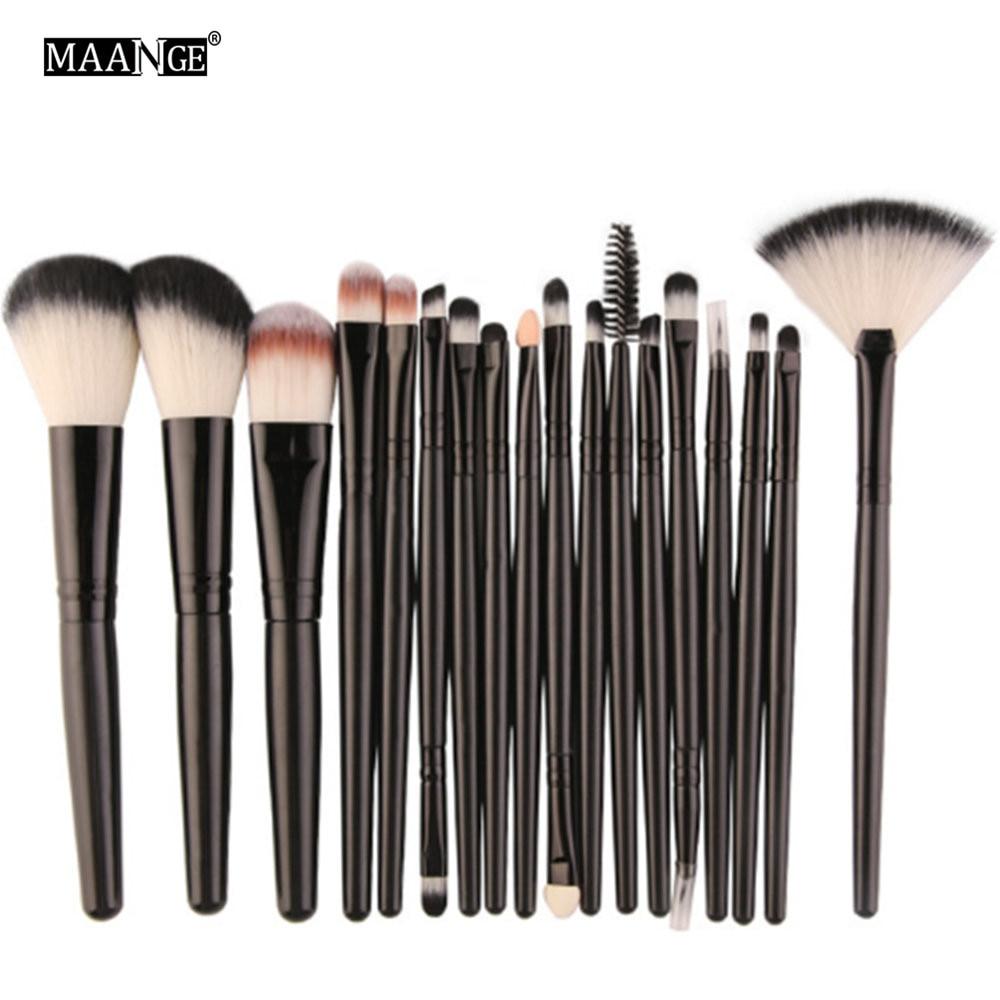 Mode 18 stücke Make-Up Pinsel Set Foundation Contour Pulver Lidschatten Eyeliner Lippen Mischen Kosmetik Beauty Make-Up Pinsel Werkzeug