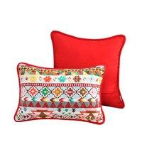 Trang chủ Trang Trí Bắc Âu 45*45 cm Ném Pillow Case Cotton Linen Quilting Đệm Che Phim Hoạt Hình In Cho Sofa/Couch/Giường