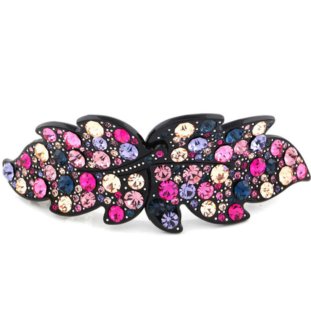Wholesale rhinestone Fashion Butterfly Clasp Wedding Hair Accessories Jewelry Barrettes Ornament Tiara Pin Clip for Women Ladies