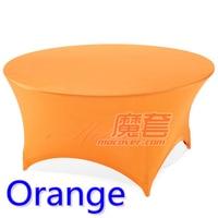 Orange cor spandex tampa de tabela lycra rodada pano de tabela estiramento fit 5ft-6ft rodada hotel banquete de casamento e decoração do partido