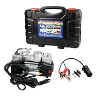 DC 12V Double Cylinder Air Compressor 150 PSI 30L/min Air Flow Car Tire Inflatable Pump With Gauge For Automotive Motor Tires