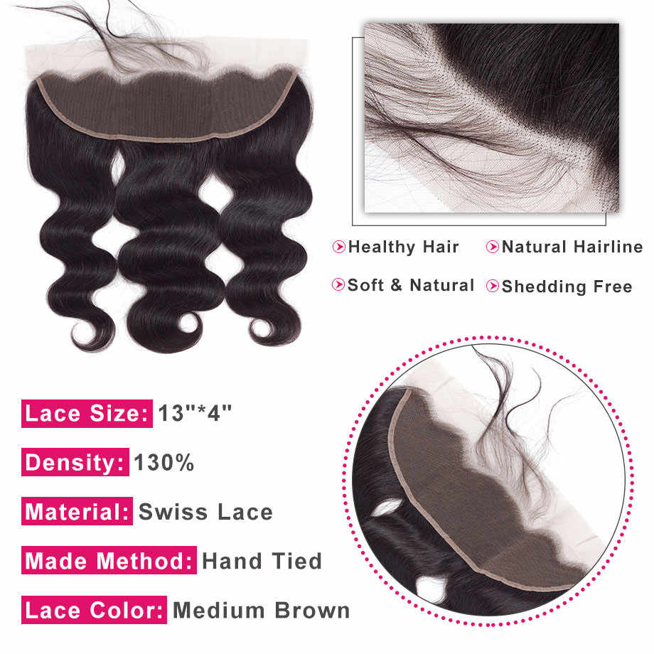 Шикарные пучки волнистых волос с закрытием 13*4 фронтальные бразильские пучки волос плетения с закрытием 100% Remy человеческие волосы 4 шт
