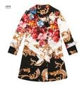 Новый Детские Точка пальто пыли Девушки пояс Классический дизайн цветок цвет бурелом пальто детская пальто Оптовая