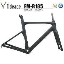 New Tideace disc brake carbon road frame 142*12mm UD carbon fiber road bike frame Di2 carbon bicycle frameset disc brake