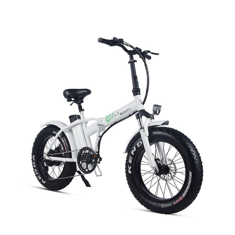 Batería de litio de 20 pulgadas para bicicleta montada 48 V 15ah motor de rueda trasera de 500 w Velocidad máxima 40 km/h rango 50-60 km de grasa de nieve