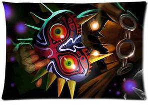 New Design Legend Of Zelda Link Majoras Mask Quote Pillow Case Cover