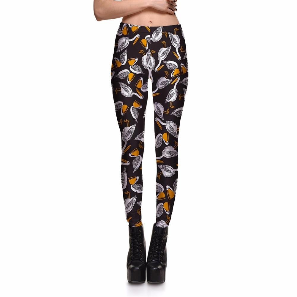 Leggings Clearly Women's Lovely White Swan Duck Leggings Digital Print Pants Trousers Stretch Pants Plus Size DropShip
