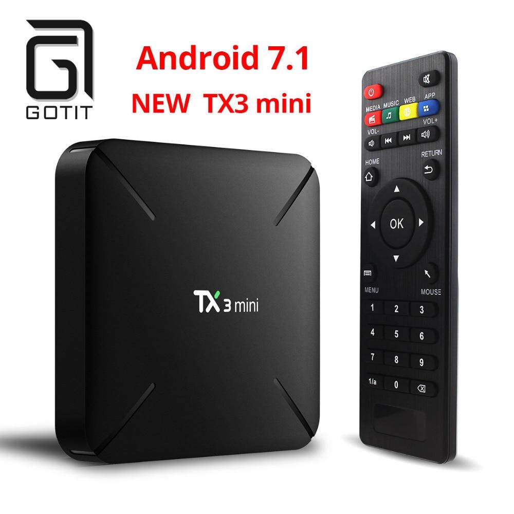 2018 Gotit TX3 ミニギガバイト 2 16 ギガバイトの Android 7.1 Tv ボックス Amlogic S905W クアッドコア Suppot H.265 4 k 2.4 ghz WiFi Mediaspeler IPTV ボックス  グループ上の 家電製品 からの セット トップ ボックス の中 1