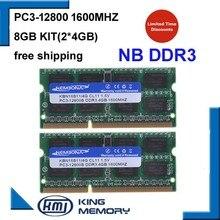 1600Mzh 8 ГБ (комплект из 2 4 ГБ) PC3-12800s1.5V DDR3 So-dimm 204 Булавки Модуль Памяти Ram Memoria для Портативного Компьютера Пожизненная Гарантия