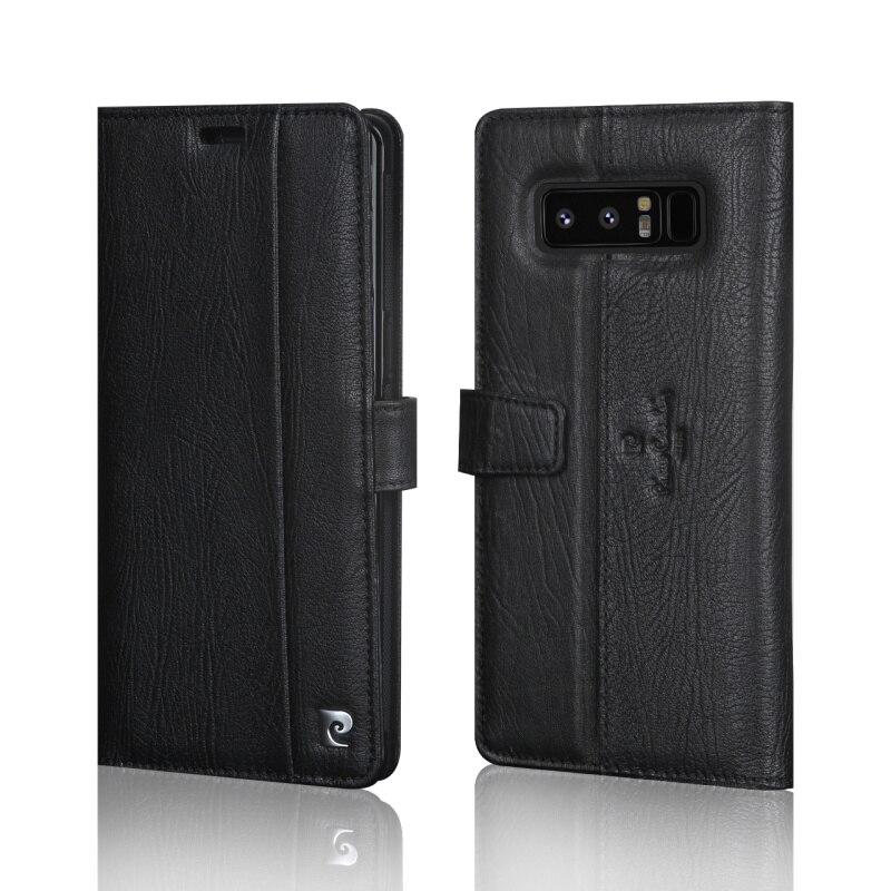 Pierre Cardin En Cuir Véritable Livre Magnétique Flip étui pour samsung Galaxy Note 8 Luxe Étui Portefeuille porte-carte Téléphone Funda - 2