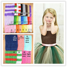 Wholesale 100pcs/lot 9Inch girl Crochet Tube Top Tutu Tops Stretchy Costume Tops for DIY Kids Dresses Tops 33 color U Pick D04