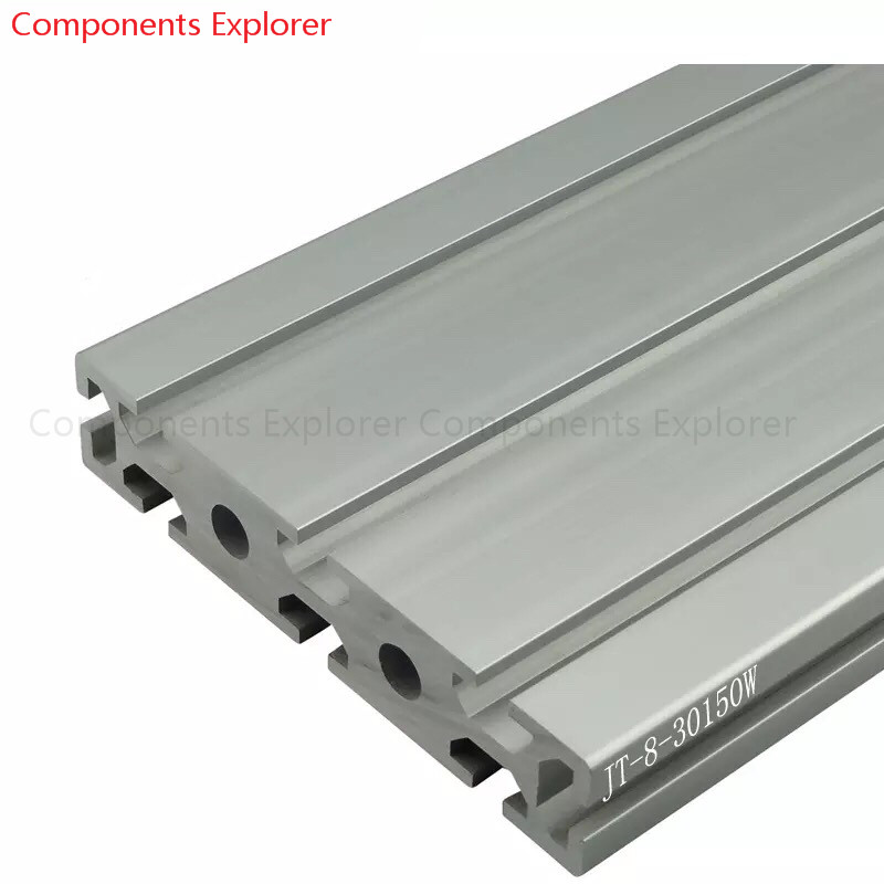 Arbitrary Cutting 1000mm 30150W Aluminum Extrusion Profile,Silvery Color.
