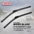 "Wiper Blade for Renault Logan (2004-Onwards) 1set 20""+20"", Flat Aero Beam Windscreen Wiper Blade Frameless Soft Wiper Blades"