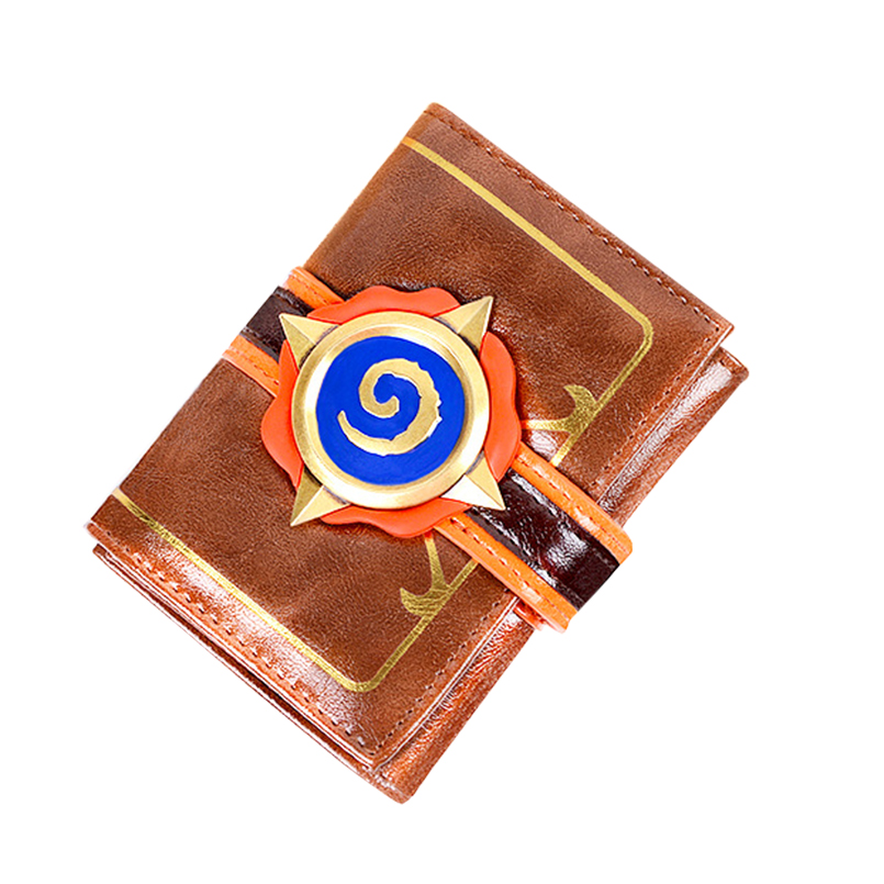 Hearthstone 3D Logo Wallet Hearth Of The Stone Wallet Three Folds PU Leather Game Type Short Wallet wallet