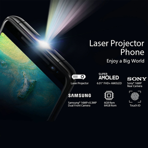 """Image 5 - Blackview MAX 1 6.01"""" Projector Mobile Phone 6GB+64GB FHD AMOLED Android 8.1 Portable Home Theater Movie Projector 4G Smartphone"""