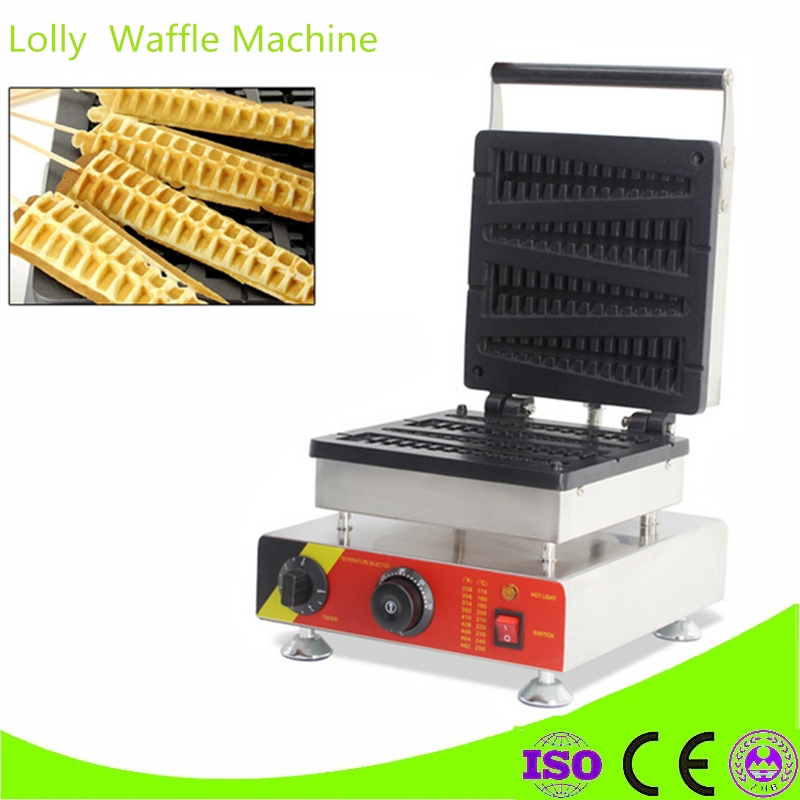 Brand New Electric Stainless Steel Commercial Home Use 4 Pieces Waffle On Stick Fish Lolly Waffle Maker Machine