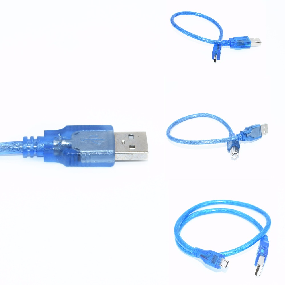 Usb-кабель для Uno r3/Nano/MEGA/Leonardo/Pro micro/DUE Blue, высокое качество, тип USB/Mini USB/Micro USB