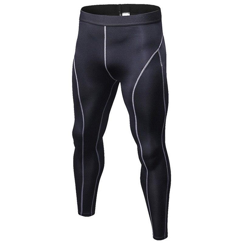 Skinny Sweatpants For Men Compression Pants Long Leggings Male Jogger Fitness Pants Elastic Trousers Slim Fit Black White Gray