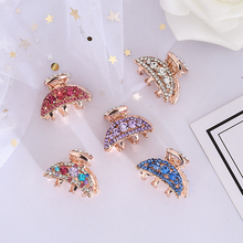 Beautiful Hollow out alloy mini crystal Headwear For Girls Fashion Women Diamond Butterfly hair crab claw clip accessories недорого
