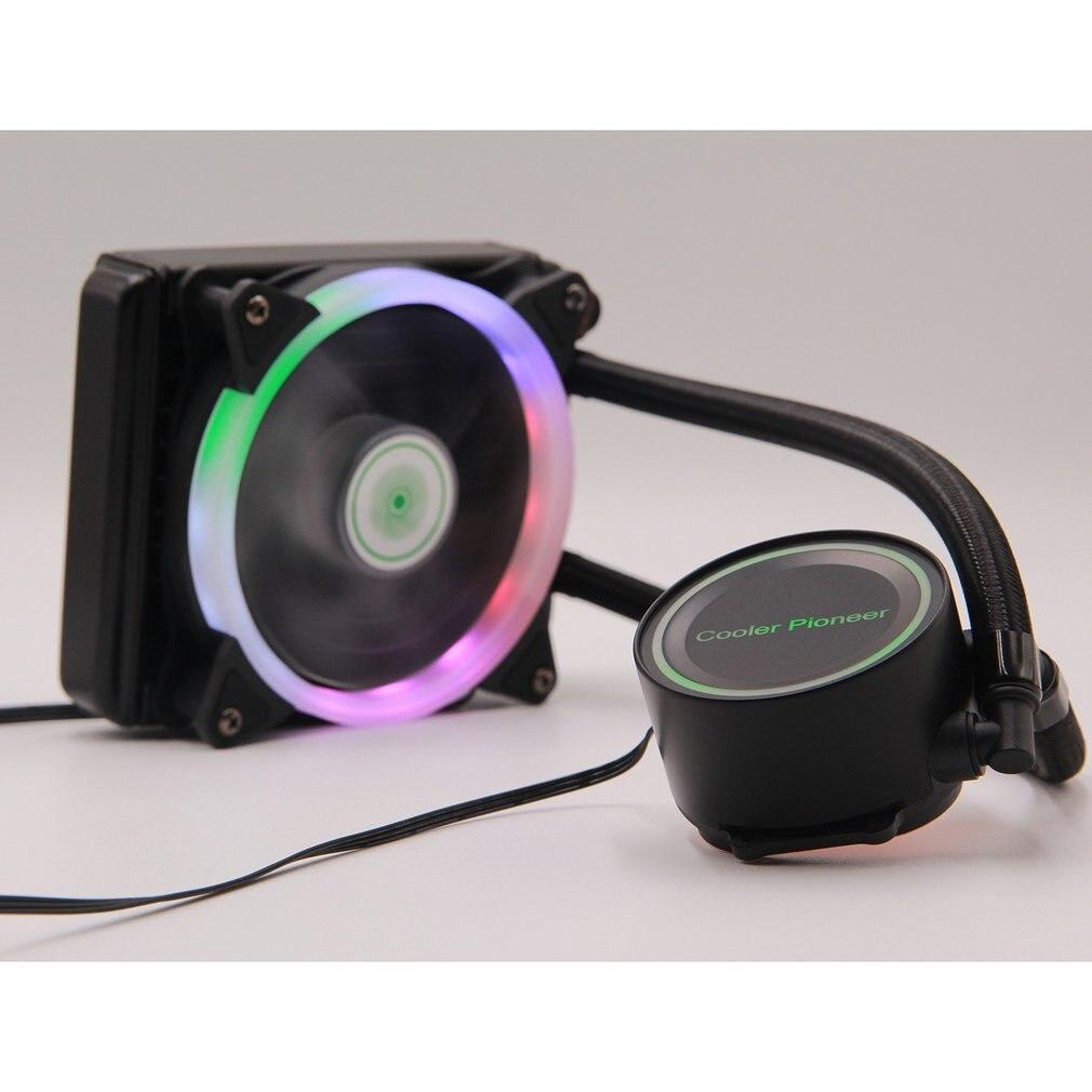 120mm Hydraulic 4Pin CPU Cooler Radiator Fan Water Cooling Fan Computer Case Cooler Fan with LED Lower Noise Cooling Fan