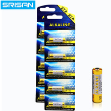 SRISAN 5x/card 15PCS/Lot 27A 12V dry alkaline battery L828 27AE 27MN  A27 for doorbell,car alarm,walkman,car remote control etc